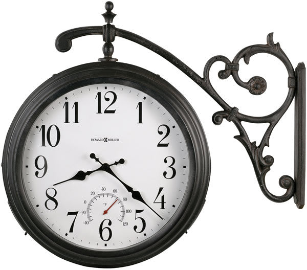 "20""H Luis Two Sided Clock Antique Iron"