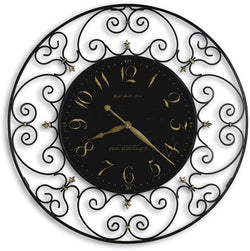 Joline Wrought Iron Clock Black Iron