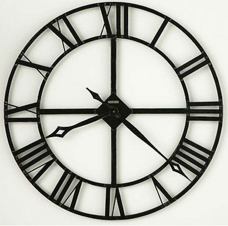 "32""h Lacy Wrought Iron Wall Clock"