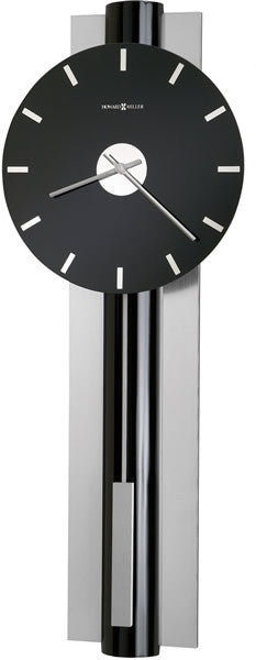 Hudson Wall Clock High Gloss Black Lacquer