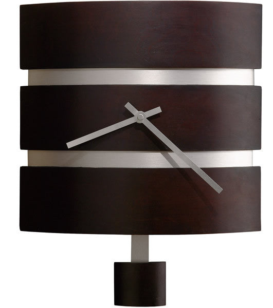 Morrison Contemporary Wall Clock Black Coffee