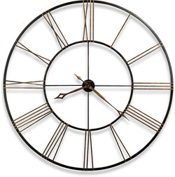 "49""h Postema Wall Clock Wrought Iron"