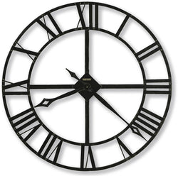 Lacy II Wall Clock Wrought Iron