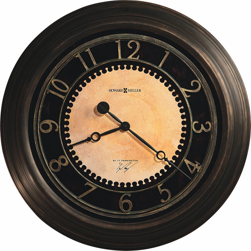 Chadwick Wall Clock in Antique brushed brass