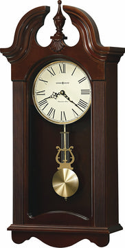 "26""H Malia Tall Wall Clock in Cherry Bordeaux"