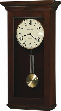 "25""H Continental Tall Wall Clock in Cherry Bordeaux"