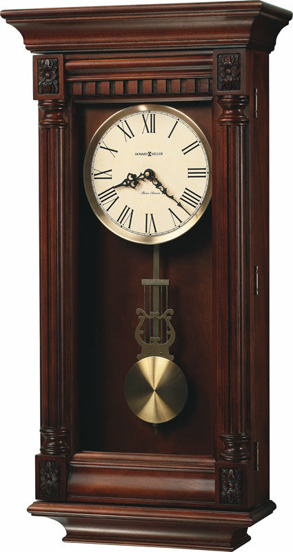 Lewisburg Tall Wall Clock in Tuscany Cherry