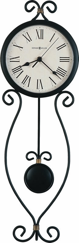 Ivana Tall Wall Clock in Antique Black