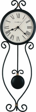 "25""H Ivana Tall Wall Clock in Antique Black"