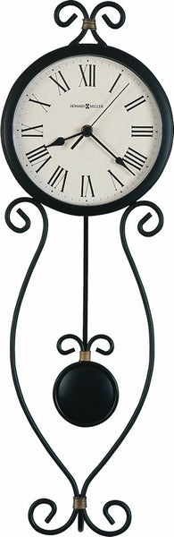 Howard Miller Ivana Tall Wall Clock in Antique Black 625495