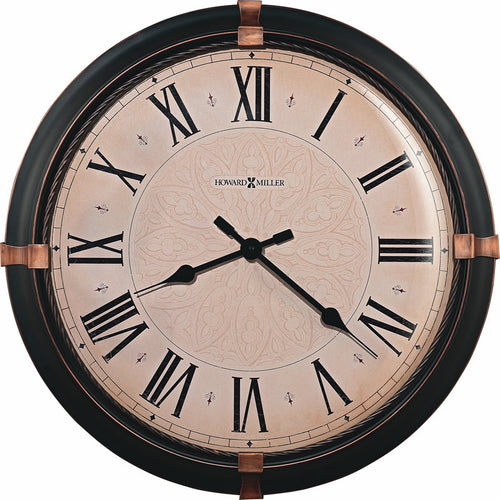Atwater Wall Clock in Dark Rubbed Bronze
