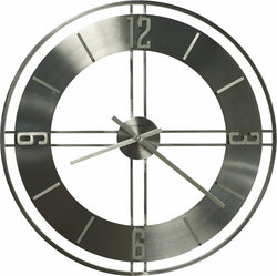Howard Miller Stapleton Wall Clock in Brushed Nickel 625520