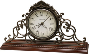 "9""H Adelaide Mantel Clock Wrought Iron"