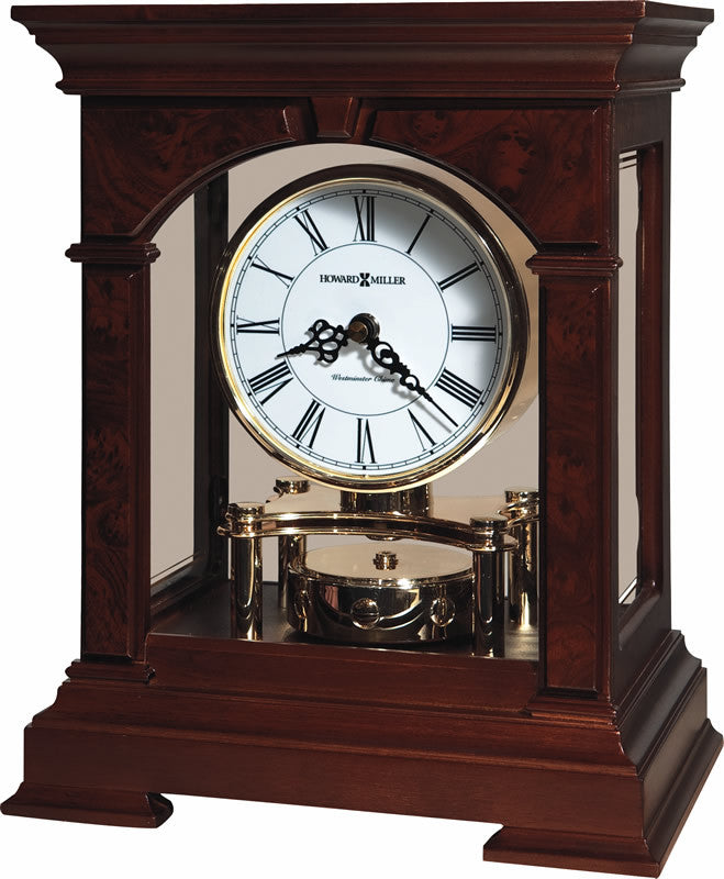 Statesboro Mantel Clock in Cherry Bordeaux