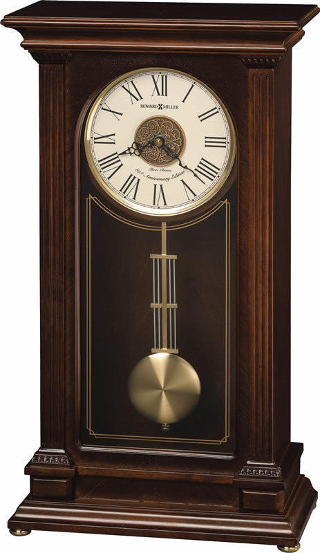 Stafford Mantel Clock in Cherry Bordeaux