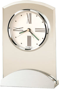 Howard Miller Tribeca Alarm Clock Brushed and Polished Aluminum 645397