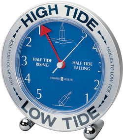 Howard Miller Tide Mate III Clock Silver Tone 645527
