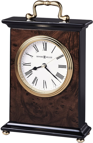 Berkley Table-top Clock High-Gloss Walnut