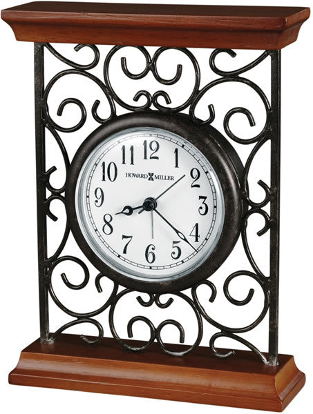 Mildred Table-top Clock Warm Gray on Cherry