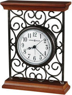 "8""H Mildred Table-top Clock Warm Gray on Cherry"