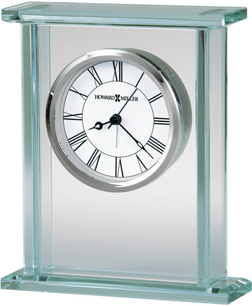 "7""H Cooper Table-top Clock Polished Chrome and Silver"