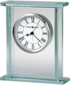 Howard Miller Cooper Table-top Clock Polished Chrome and Silver 645643