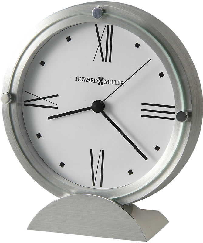 Simon II Tabletop Clock Brushed Aluminum