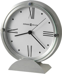 Howard Miller Simon II Tabletop Clock Brushed Aluminum 645671