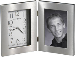 Howard Miller Lewiston Tabletop Clock Brushed Silver 645677