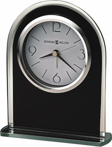 Ebony Luster Alarm Clock in Black Glass