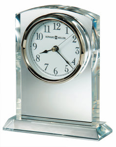 Flaire Mantel Clock in Polished Silver