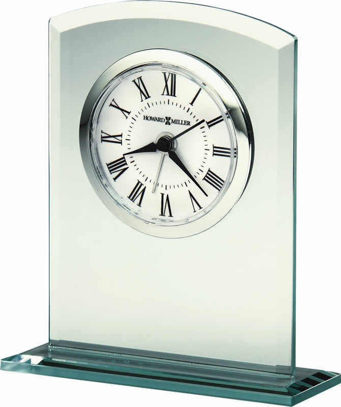 Medina Mantel Clock in Silver