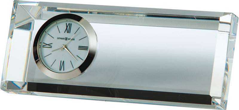 Prism Mantel Clock in Polished Silver