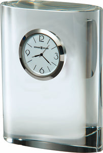 Fresco Mantel Clock in Polished Silver