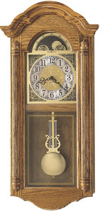 Fenton Quartz Wall Clock Golden Oak