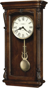 Howard Miller Henderson Quartz Wall Clock Lightly Distressed Hampton Cherry 625378