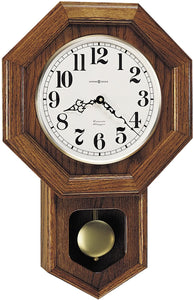 Katherine Quartz Wall Clock Oak Yorkshire