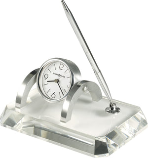 "4""H Prominence Desk Set Clock Optical Crystal"