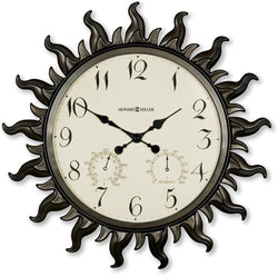 Howard Miller Sunburst II Wall Clock Metal with Powder Coated Case 625543