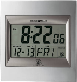Howard Miller Techtime II Wall Clock Silver 625236