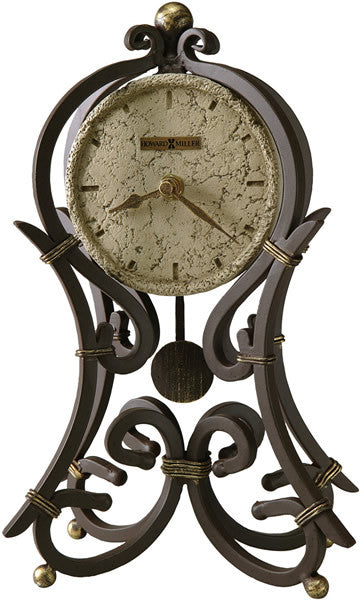 Vercelli Mantel Clock Aged Iron