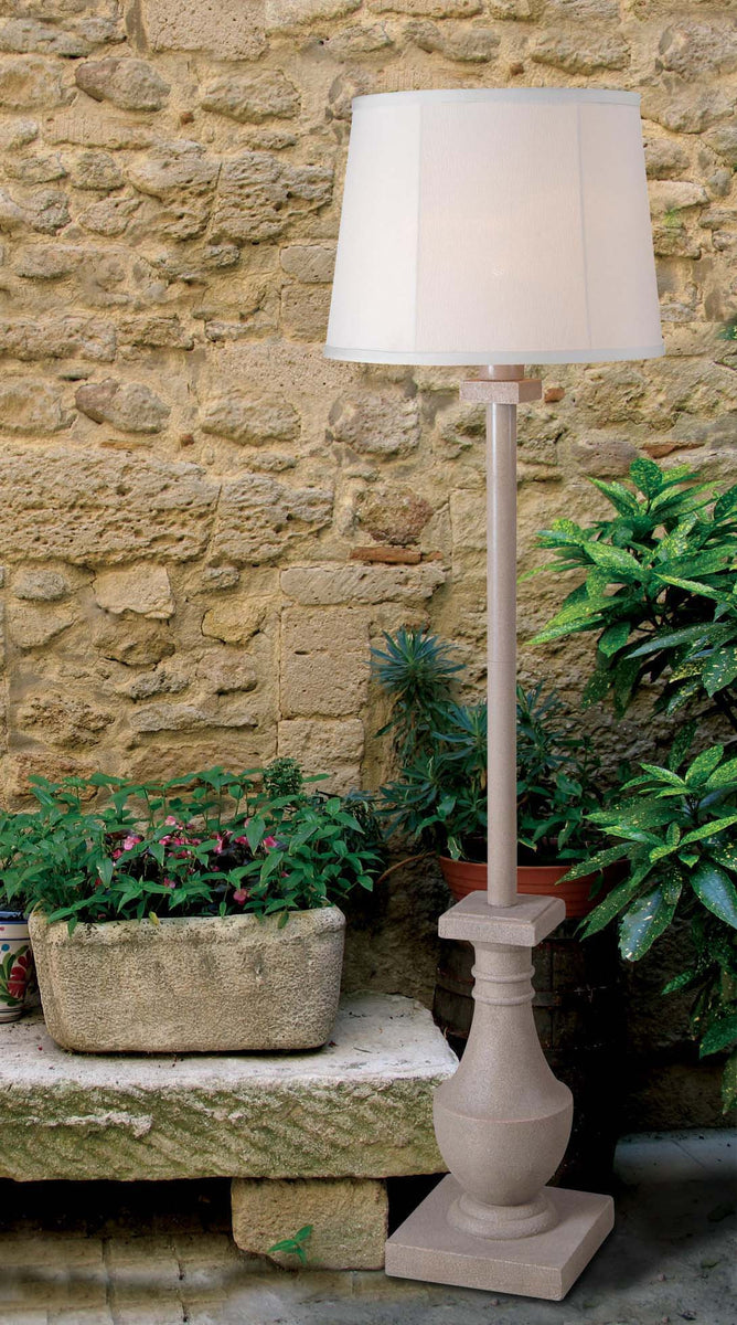 "58""h Patio 1-Light Outdoor Floor Lamp Coquina"