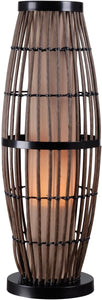 "31""h Biscayne 1-Light Outdoor Table Lamp Rattan with Bronze Accents"
