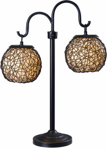 KenroyHome Castillo 2-Light Outdoor Table Lamp Bronze 32245BRZ