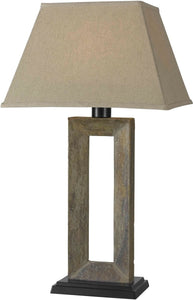 KenroyHome Egress 1-Light Outdoor Table Lamp Natural Slate 30515SL