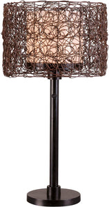 "28""h Tanglewood 1-Light Outdoor Table Lamp Bronze"