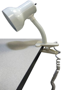 "10""H Goose-neck Clip-On Lamp White"