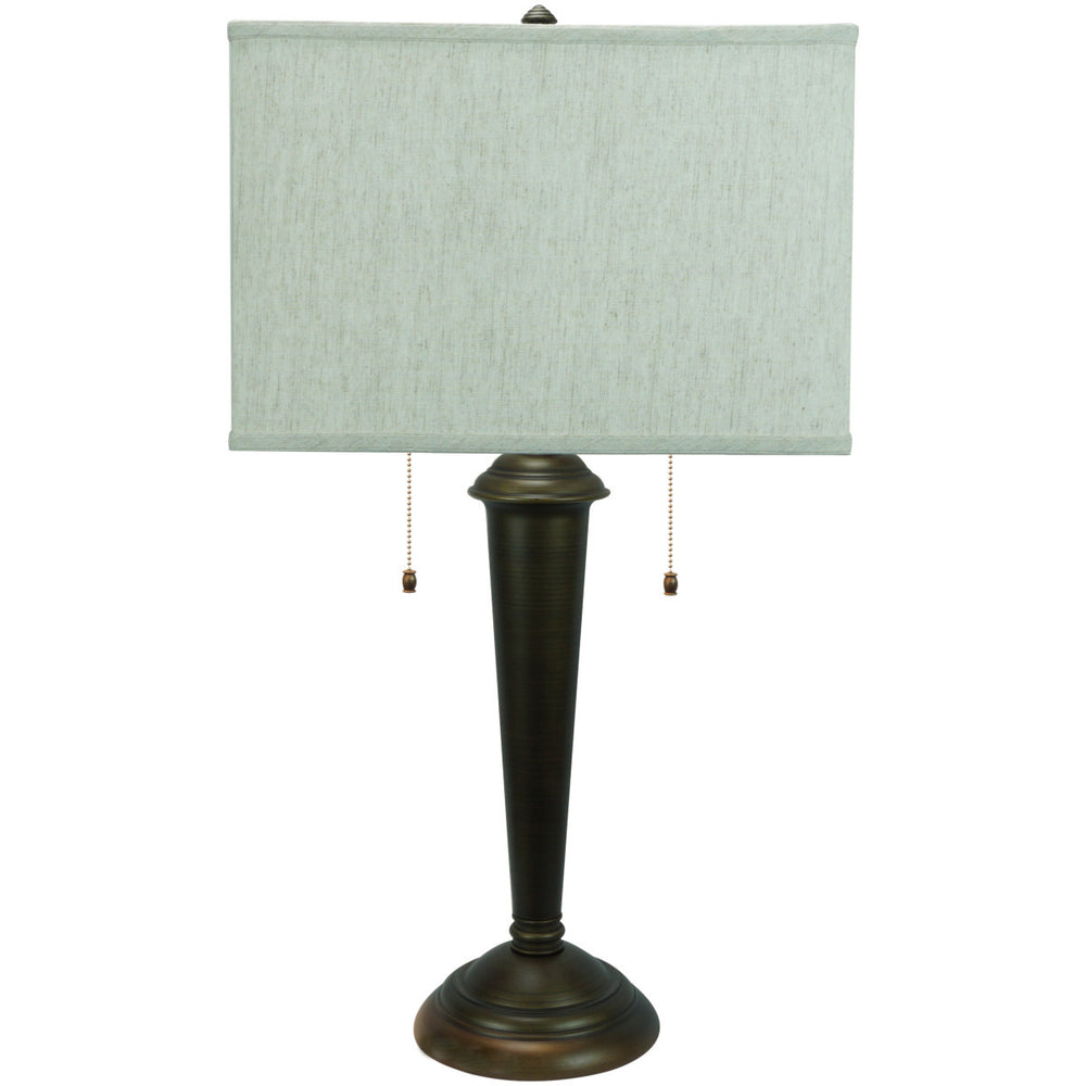"Marshall Table Lamp with 16"" textured oatmeal rectangular"