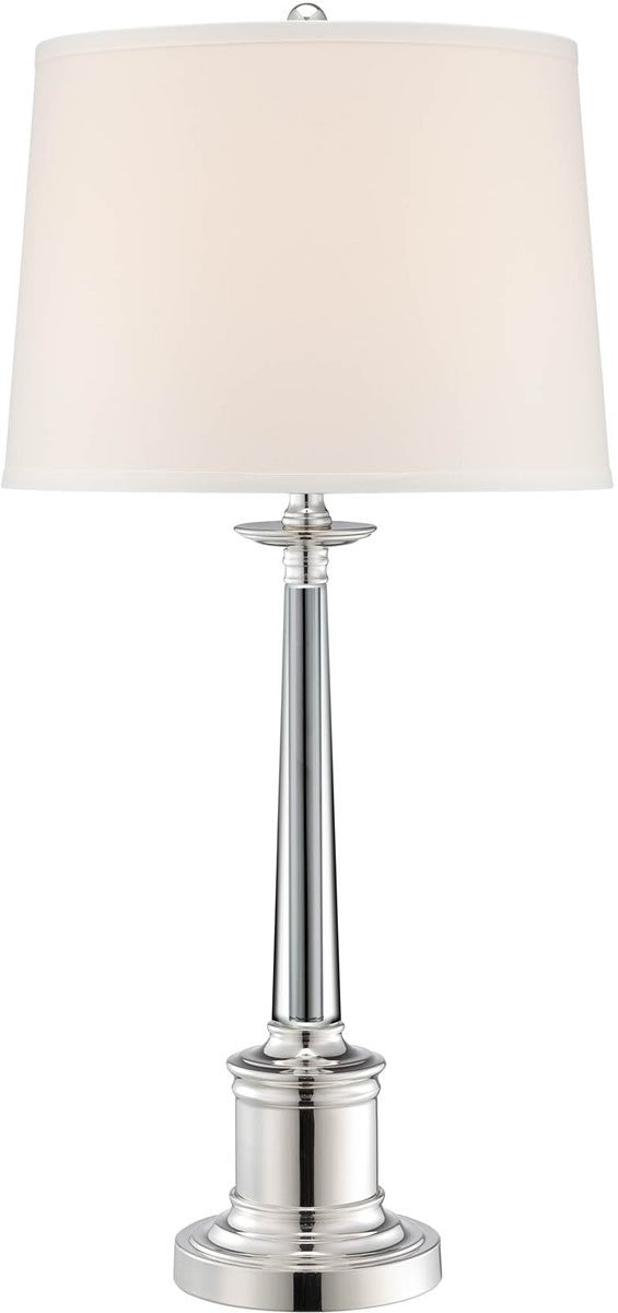 "31""h Adara 1-Light Table Lamp Silver Plated"