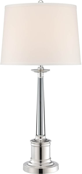 Lite Source Adara 1-Light Table Lamp Silver Plated LSF22133